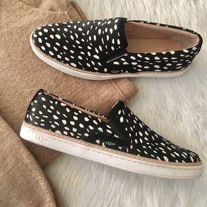 UGG Soleda Exotic Calf Hair Slip On Sneaker